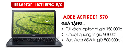 Laptop Acer Aspire E1 570 i5 3337U/4G/500G