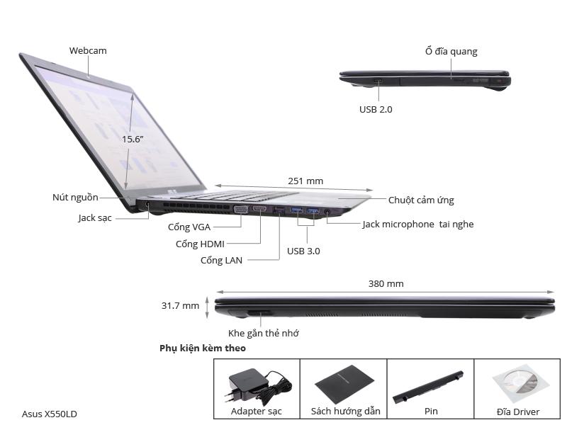 Kết quả hình ảnh cho Asus X550LD-XX144D