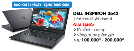 Laptop Dell Inspiron 3542 i3 4005U/4G/500G/Win8