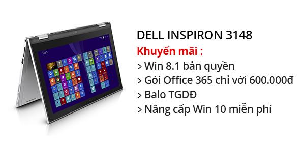 Laptop Dell Inspiron 3148 i3 4030U/4GB/500GB/Win8.1