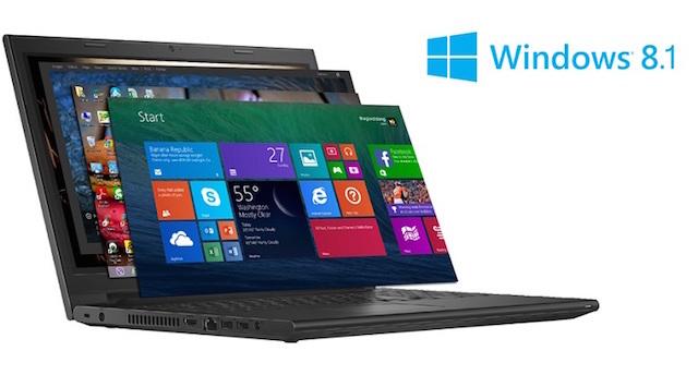 laptop dell Inspiron 3443 sử dụng windows 8.1 bản quyền