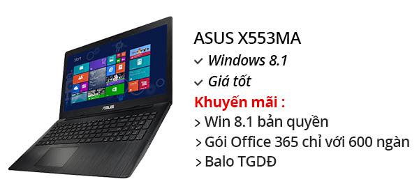 Laptop Asus X553MA N2840/2GB/500GB/Win 8.1