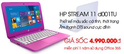 Laptop HP Stream 11-d001TU