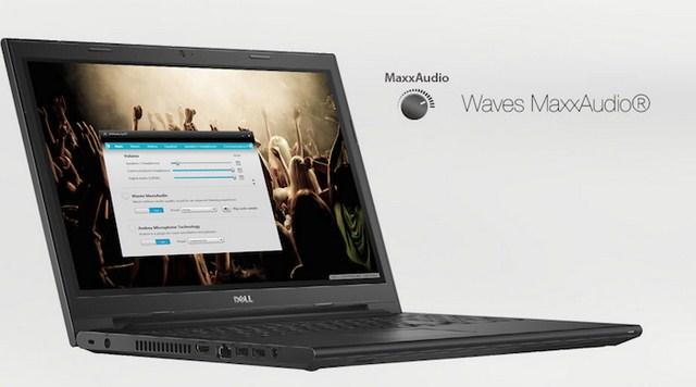 nh âm thanh 2.0 của Inspiron 3458 được tích hợp công nghệ MaxxAudio