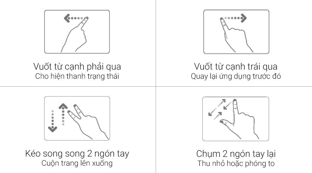Công nghệ điều khiển touchpad thông minh Asus Smart Gesture