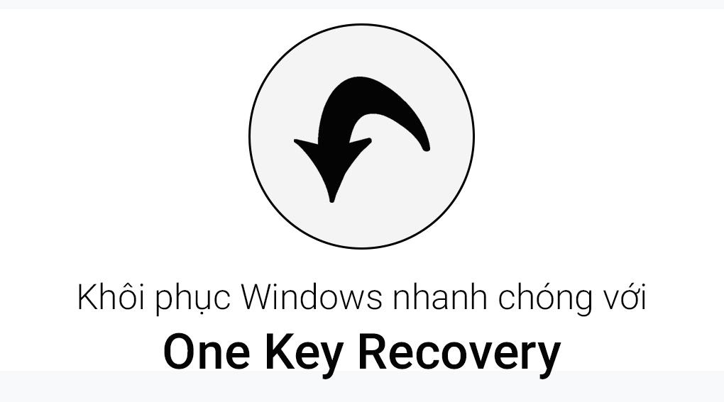Tiện ích với tính năng One Key Recovery