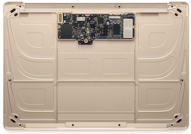 Apple Macbook 12 inch MLHE2 - Phần bo mạch chính rất nhỏ