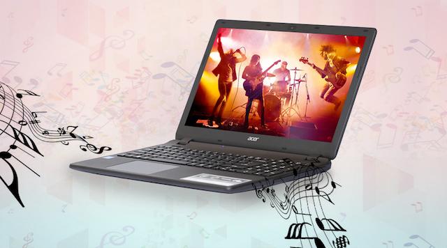 Acer ES1 531 N3710 - Giải trí với hai loa Stereo 2.0 được thiết kế bên dưới máy