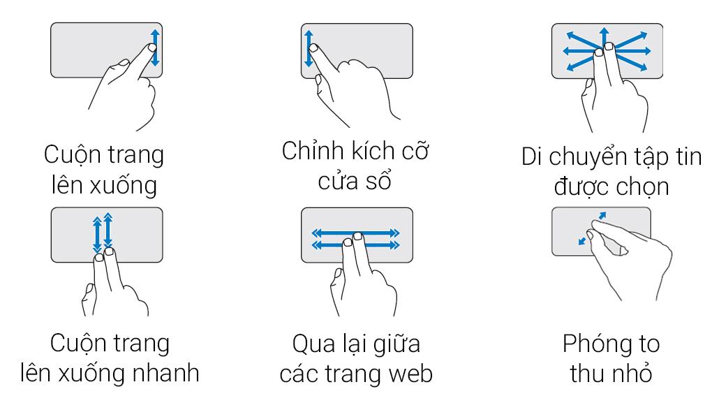 Touchpad đa cách điều khiển