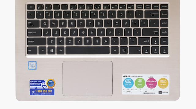 Asus A456UA i5 6200U - Cụm bàn phím quen thuộc