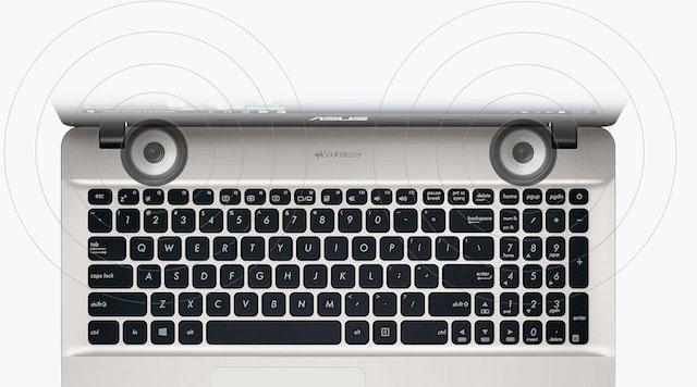 Asus X541UV i5 - Dàn loa cho âm thanh rõ nét đến từng chi tiết