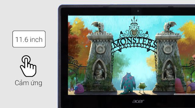Acer R3 131T N3060 - Tích hợp cùng màn hình cảm ứng 11.6 inch