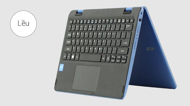 Acer R3 131T N3060 - Xoay 360 độ tùy vào nhu cầu sử dụng