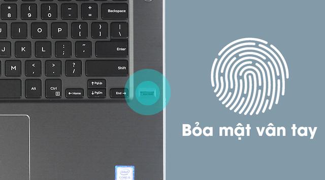 Dell Vostro 5468 i5 7200U - Trang bị bảo mật vân tay