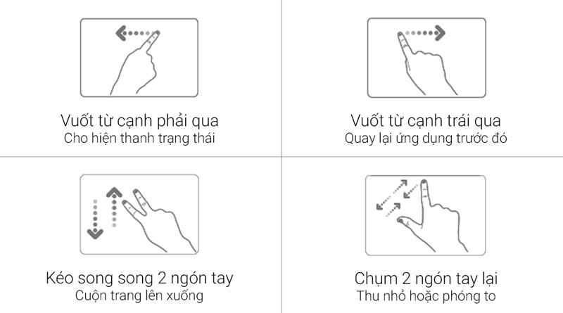 Điều khiển thiết bị dễ dàng với Touchpad thông minh