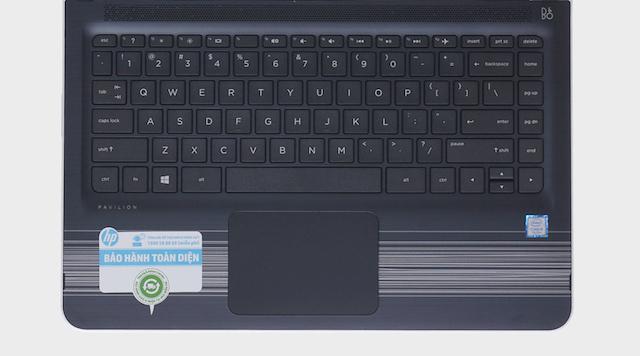 HP Pavilion x360 u107TU i5 7200U - Bàn phím quen thuộc dễ ấn