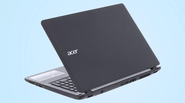 Acer ES1 533 N4200 - Mặt nắp máy với nhiều đường vân dập nổi tạo điểm nhấn