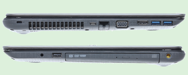 Acer Aspire F5 573G 55HV i5 - 2 cạnh bên