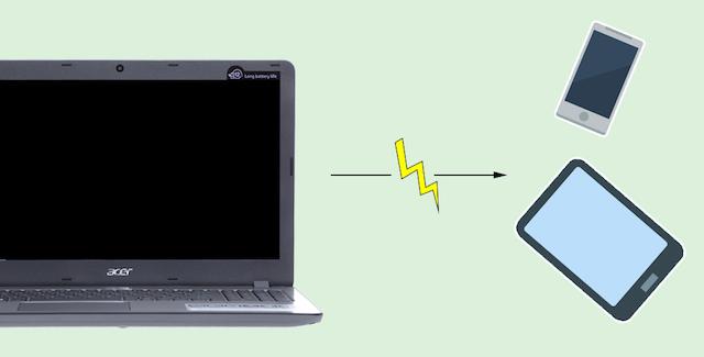 Acer Aspire F5 573G 55HV i5 - Sạc pin cho thiết bị khác ngay cả khi máy đang tắt hay ở chế độ ngủ