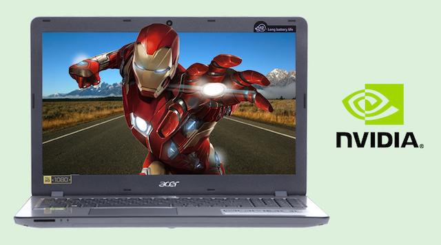 Acer Aspire F5 573G 55HV i5 - Trải nghiệm hình ảnh với card NVIDIA® GeForce® 940MX