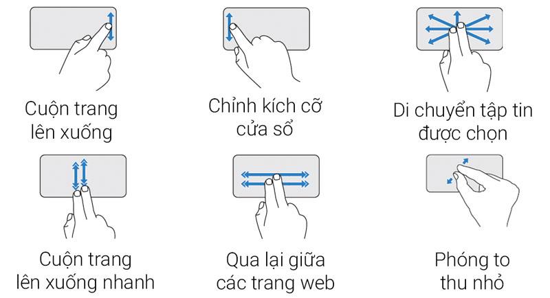 Touchpad đa chạm trên Laptop Dell Vostro 3468 i5 7200U