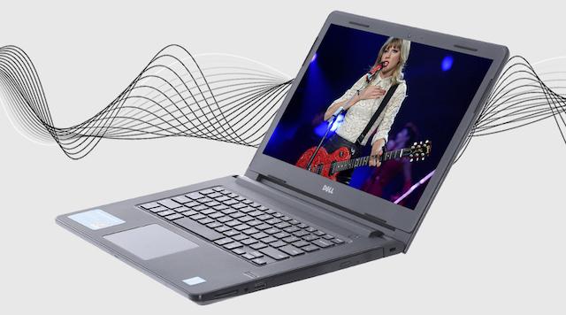 Dell Vostro 3468 i5 7200U - Trải nghiệm âm thanh tốt hơn với công nghệ xử lý độc quyền MaxxAudio