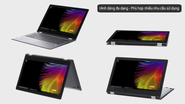 Laptop biến hình tùy theo nhu cầu sử dụng