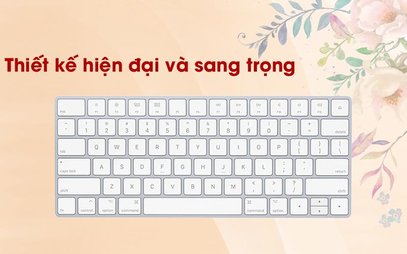 Bàn phím Magic Keyboard US Apple MLA22 trắng có thiết kế sang trọng