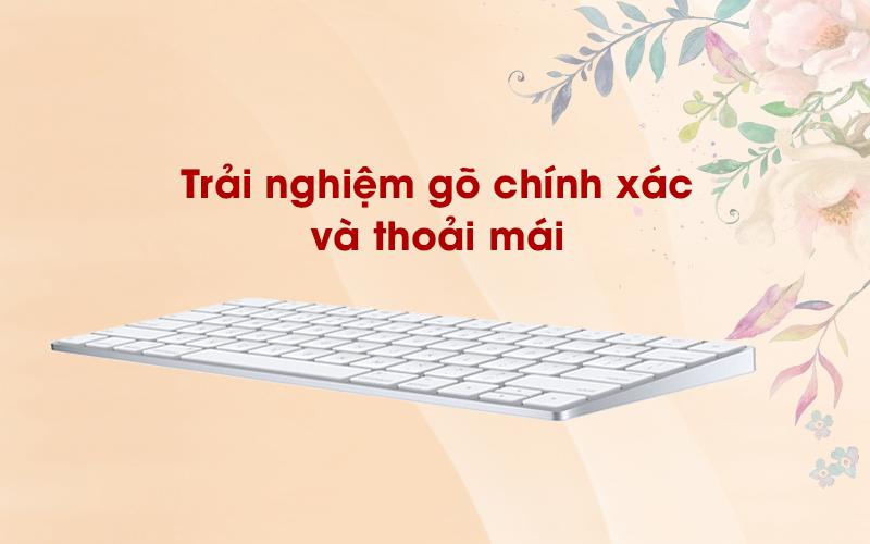 Bàn phím Magic Keyboard US Apple MLA22 trắng có trải nghiệm gõ khá tốt
