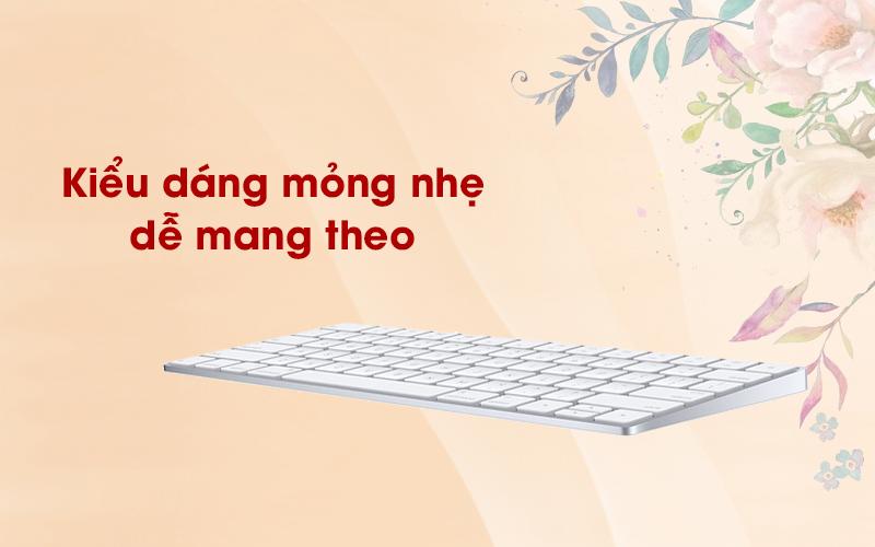 Bàn phím Magic Keyboard US Apple MLA22 trắng dễ dàng mang theo