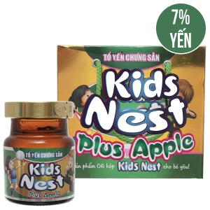 Hộp 6 hũ tổ yến chưng sẵn Sài Gòn Anpha Kids Nest hương táo 70ml