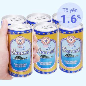 Lốc 6 lon nước yến sào Khánh Hòa 190ml