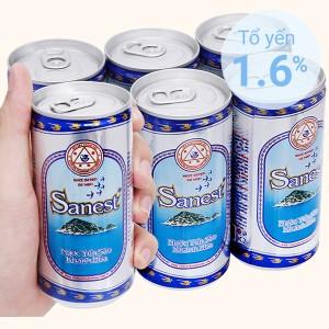 Lốc 6 lon nước yến sào Khánh Hòa không đường 190ml