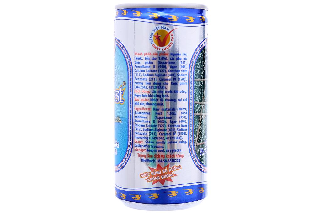 Lốc 6 lon nước Yến sào Khánh Hòa không đường 190ml 3