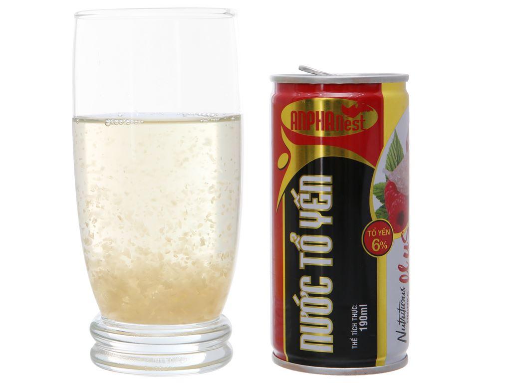 Hộp 5 lon nước giải khát tổ yến Sài Gòn Anpha hương phúc bồn tử 190ml 5