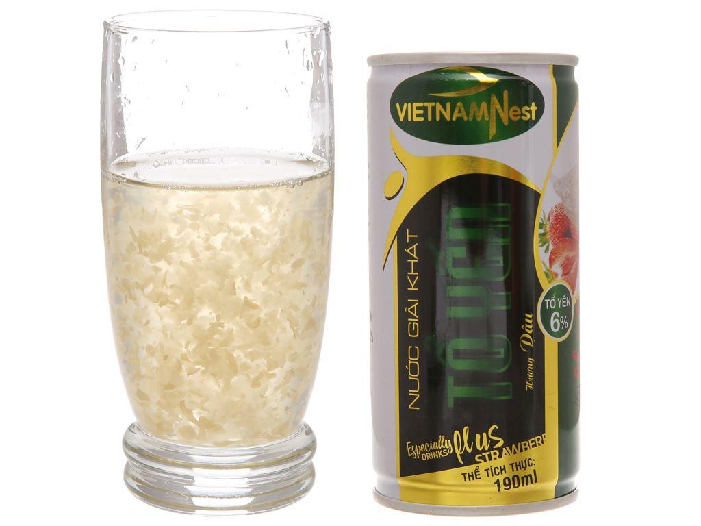 Nước giải khát tổ yến Việt Nam Nest hương dâu 190ml 3