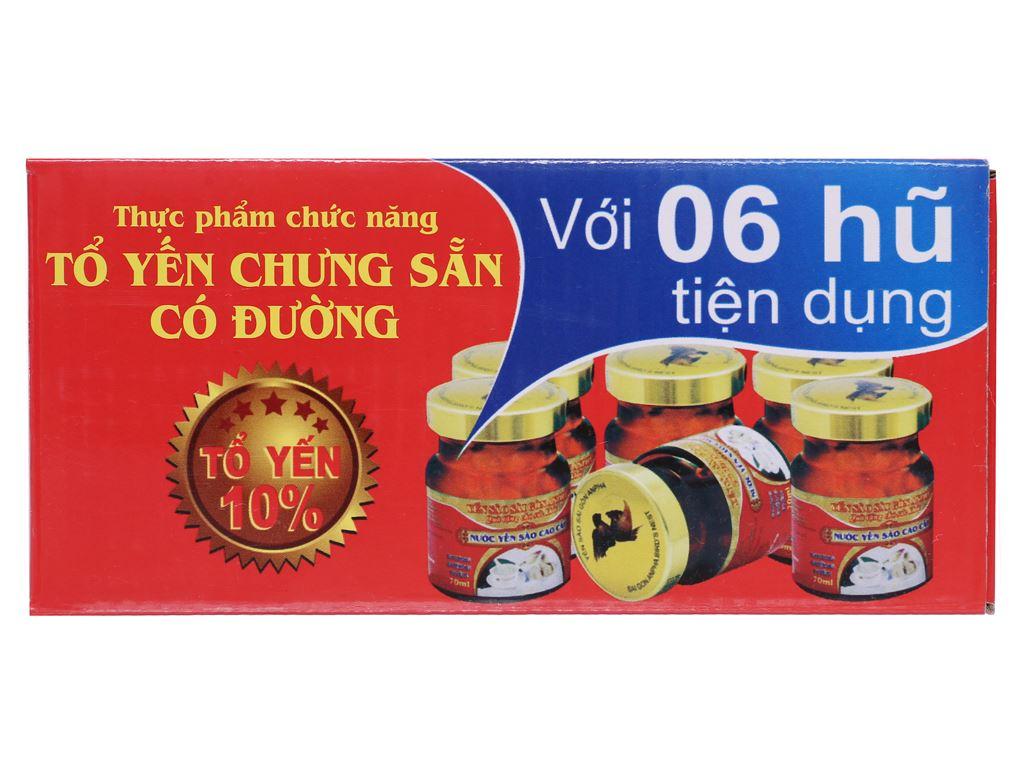 Lốc 6 hũ tổ yến chưng đường phèn Sài Gòn Anpha 70ml 1