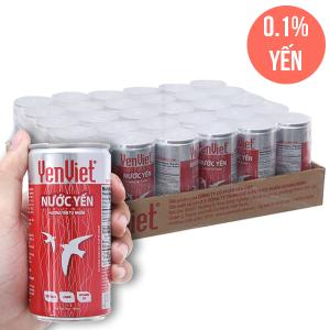 Thùng 30 lon nước yến Yến Việt hương vị tự nhiên 190ml