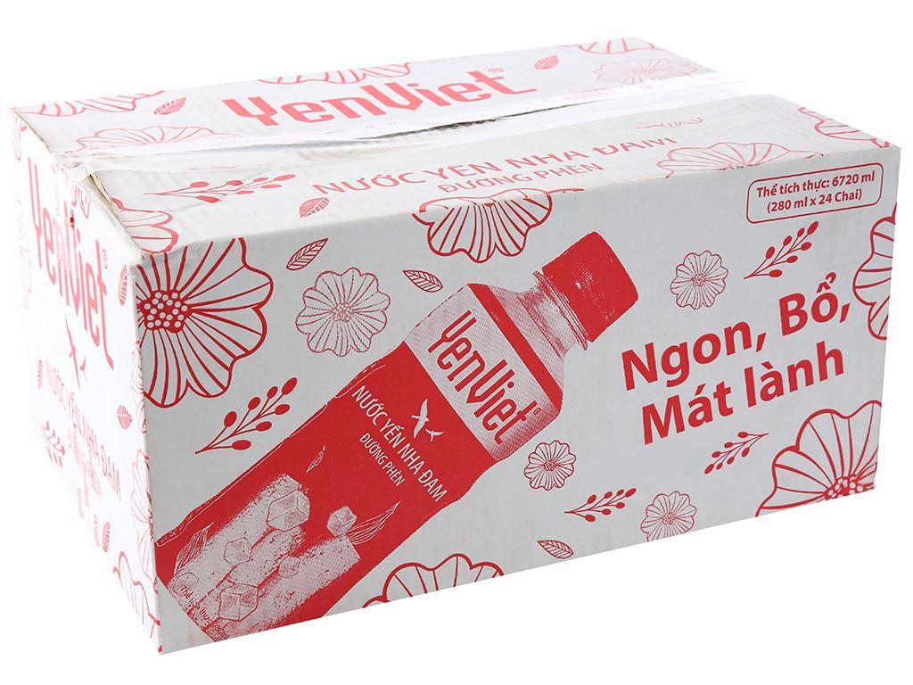 Thùng 24 chai nước yến nha đam đường phèn Yến Việt 280ml 1