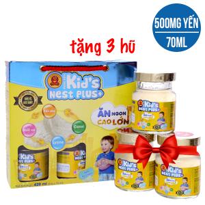 Hộp 6 hũ nước yến cho bé Thiên Việt hương tự nhiên 70ml