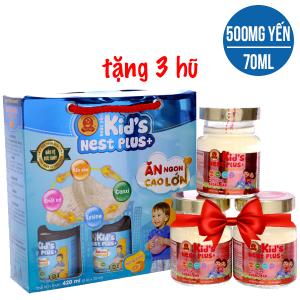 Hộp 6 hũ nước yến cho bé Thiên Việt hương cam 70ml