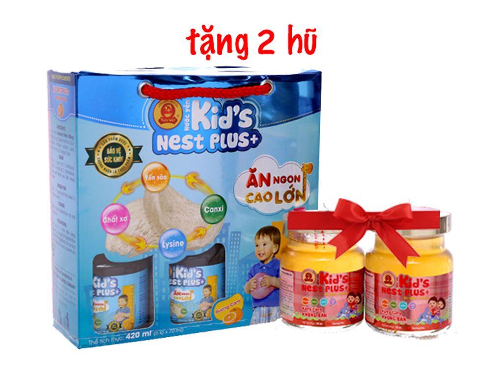 Hộp 6 hũ nước yến cho bé Thiên Việt Kids Nest Plus+ hương cam 70ml 1