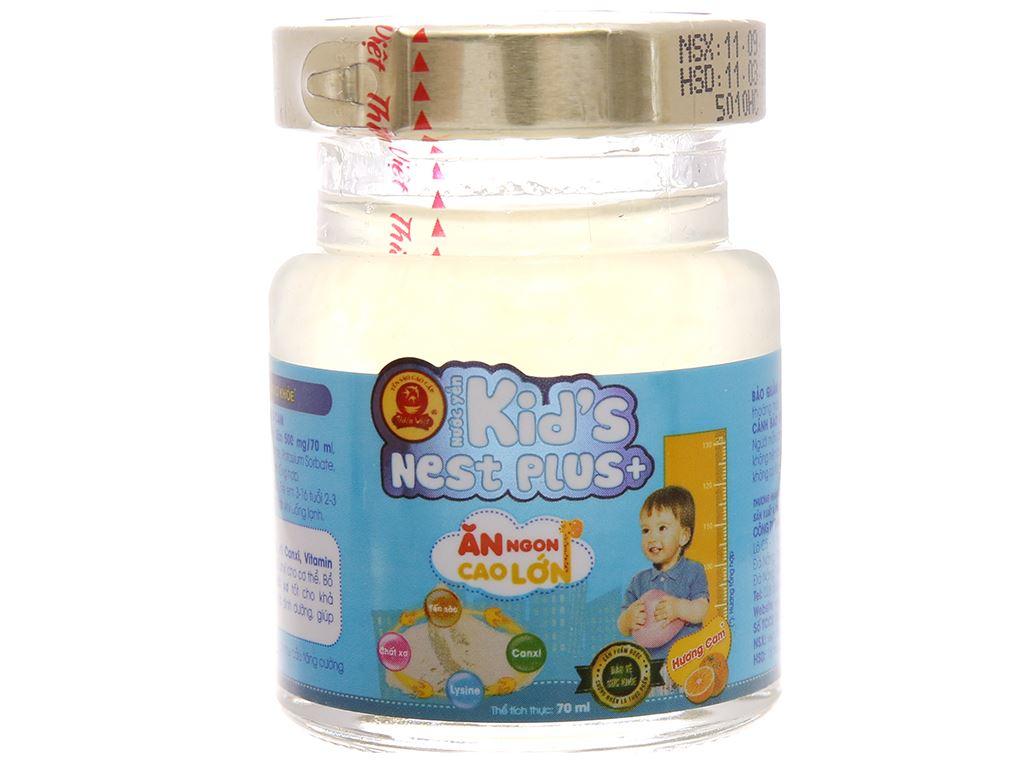 Hộp 6 hũ nước yến cho bé Thiên Việt Kids Nest Plus+ hương cam 70ml 2
