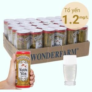 Thùng 30 lon nước yến ngân nhĩ Wonderfarm 240ml