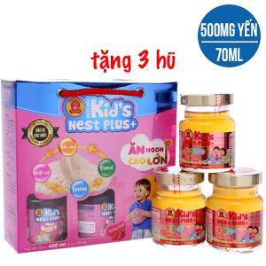 Hộp 6 hũ nước yến cho bé Thiên Việt hương dâu 70ml