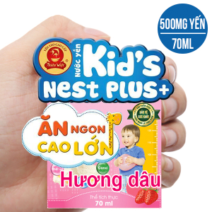 Nước yến cho bé Thiên Việt hương dâu 70ml