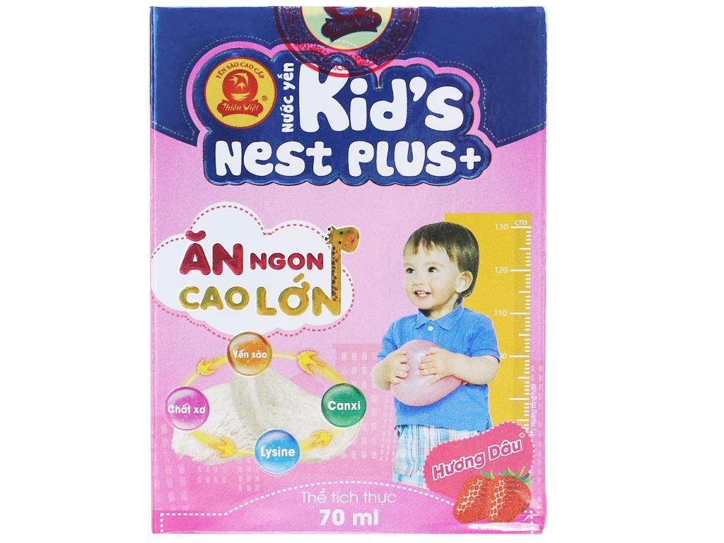 Nước yến cho bé Thiên Việt Kids Nest Plus+ hương dâu 70ml 1
