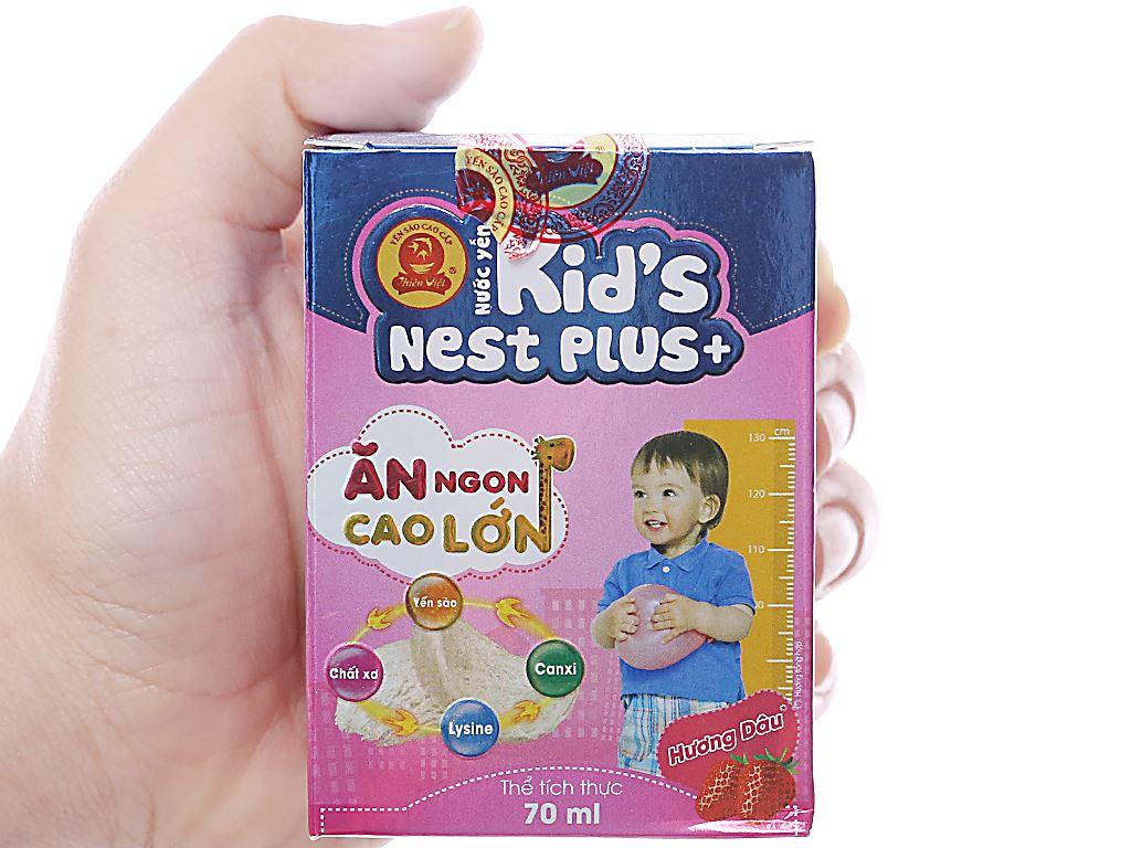 Nước yến cho bé Thiên Việt Kids Nest Plus+ hương dâu 70ml 6