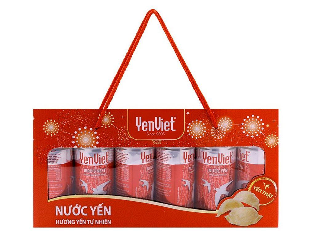 Hộp 6 lon nước yến ngân nhĩ Yến Việt 190ml 1