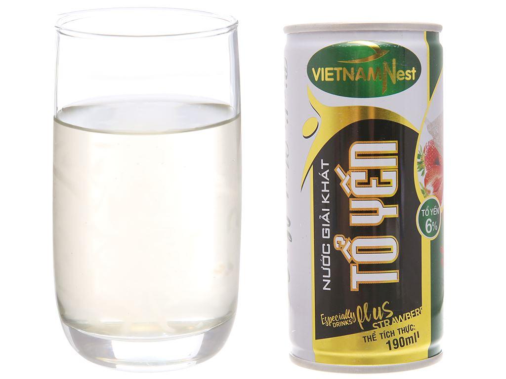 Lốc 6 lon nước yến Việt Nam Nest hương dâu lốc 190ml 4